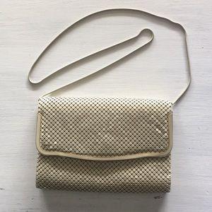 Vintage off white metal sequin purse